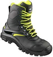 F-S3-PEZZOL-Sicherheits-Berufs-Schuhe, Arbeits-Schnürstiefel, hoch, TRAPANI, schwarz/lime