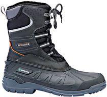 F-SPIRALE-Winter-Sicherheits-Arbeits-Berufs-Schuhe, Schnürstiefel, *ICELAND*, schwarz/grau-silber abgesetzt