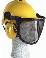 FELDTMANN-PSA-Kopfschutz, PSA-Forst-Arbeits-Schutz-Helm-Kombination, gelb