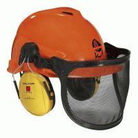 FELDTMANN-PSA-Kopfschutz, Forst-Arbeits-Schutz-Helm-Kombination, orange