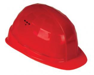 FELDTMANN-PSA-Kopfschutz, Schutzhelm, Helm BAU, rot