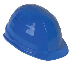 FELDTMANN-PSA-Kopfschutz,  Schutzhelm, Helm BAU, blau
