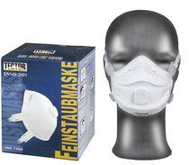 F-TECTOR-PSA-Atemschutz, Einweg-Fein-Staub-Filter-Maske, Standard, P3 / Ventil, weiß