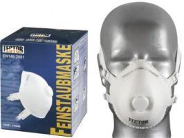 F-TECTOR-PSA-Atem-Schutz, Einweg-Fein-Staub-Filter-Maske, Dolomit P3 D, weiß