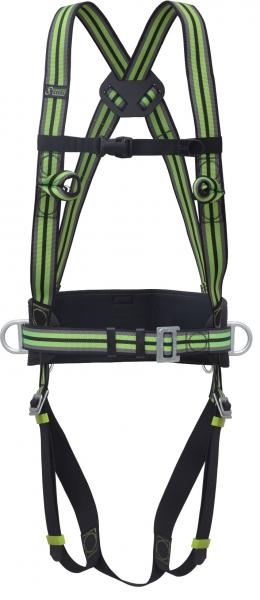 FELDTMANN-KRATOS-Fuß- und Gelenk-Schutz, Auffang- und Haltegurt, grün/rot