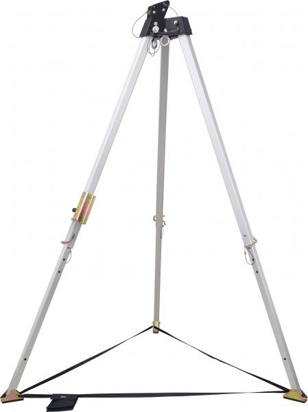 F-Dreifuss, Aluminium, Höhenverstellbar, Tragfähigkeit 500KG, EN 795 TYP B