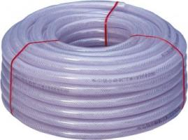F-FELDTMANN-Schläuche und Zubehör, Gewebe-Schlauch, PVC transparent, 6 mm, Rollenlänge 50 m