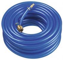 F-FELDTMANN-Schläuche und Zubehör, Druckluft Schlauch-Garnitur, PVC blau, konfektioniert, 9x3 mm, Rollenlänge 10 m