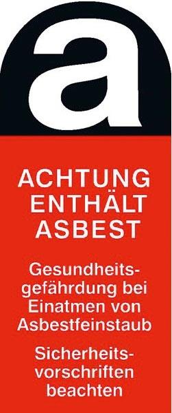 F-F-FELDTMANN-Warn-Artikel-Produkte, Asbest-Aufkleber, 220 x 100 mm, 100 / Rolle