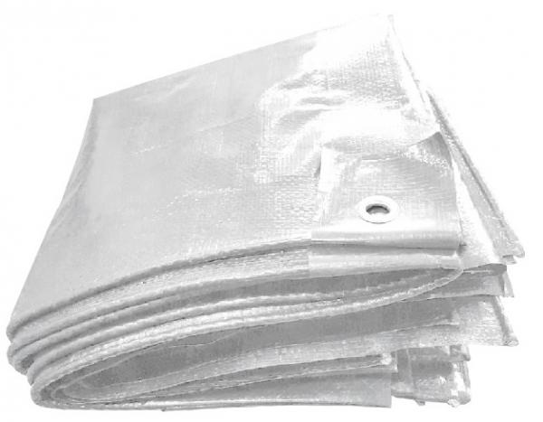 F-Feldtmann-PE-Gewebeplane, mit Aluminium Ösen, 90g/m², weiß