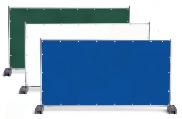 F-Feldtmann-PE-Bauzaunplane, mit Aluminium Ösen, 150g/m², blau