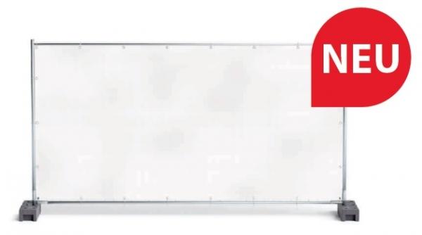 F-Feldtmann-PVC-MESH Bauzaunplane, mit Aluminium Ösen, weiß