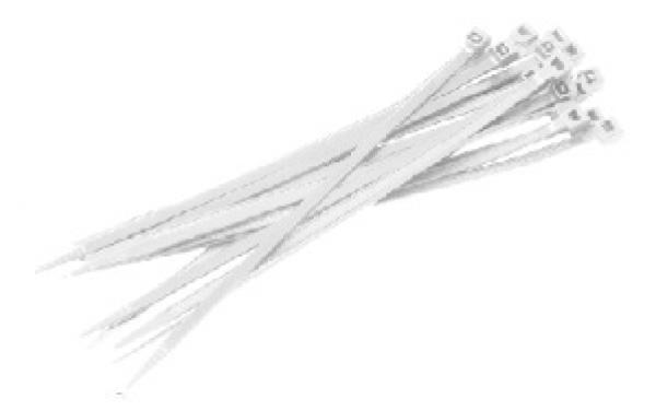 F-FELDTMANN-Handwerks-Bedarf, Kabelbinder, Beutel á 100 Stück, weiß