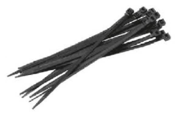 F-FELDTMANN-Handwerks-Bedarf, Kabelbinder, Beutel á 100 Stück, schwarz