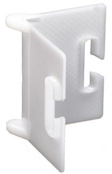 F-Feldtmann-Kanten-Schutzwinkel aus Kunststoff, weiß