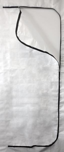 F-Feldtmann-PP Reiß-Verschlusstür, C-Form, 100 X 220 cm