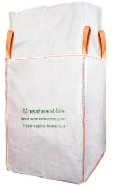 F-FELDTMANN-TECTOR-Bags-Transport-Entsorgung-Container-Säcke, Big-Bag, Mineralwolle, 4 Hebeschlaufen, 125 X 125 X 150 cm beschichtet