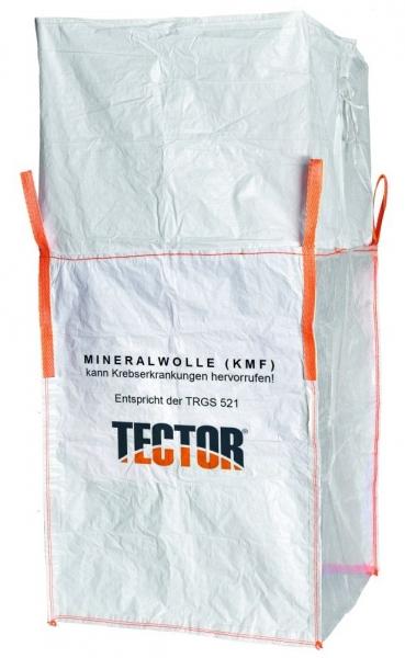 F-Big-Bag, Mineralwolle mit 4 Hebeschlaufen, 90 x 90 x 120 cm