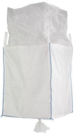 F-Karton Big-Bag, unbeschichtet, mit Schürze und Auslaufstutzen, TRAGKRAFT: 1.000 KG