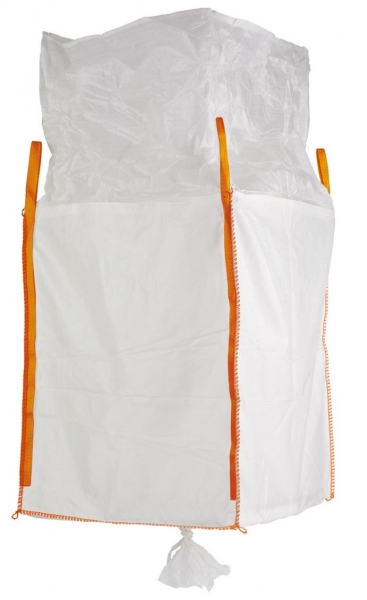 F-FELDTMANN-TECTOR-Bags-Transport-Entsorgung-Container-Säcke, Big-Bag, mit Schürze & Auslauf, 90 x 90 x 165 cm, 4 Schlaufen, Tragkraft: 1250 KG
