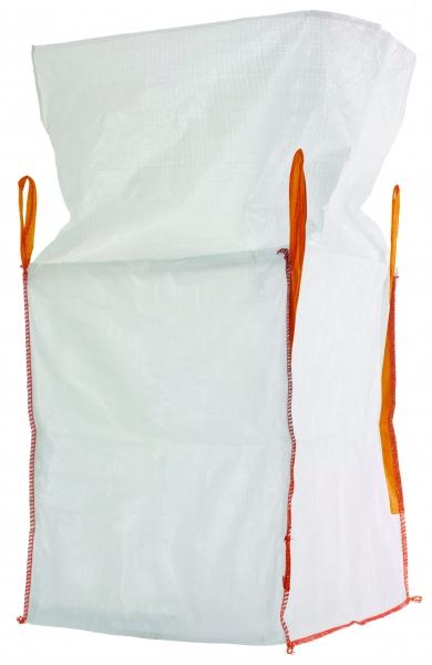 F-Karton Big-Bag, mit Schürze, 75 x 75 x 90 cm, 4 Schlaufen, Tragkraft: 1000 KG