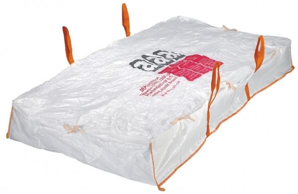 F-FELDTMANN-TECTOR-Bags-Transport-Entsorgung-Container-Säcke, Platten-Bag, 175x125x45cm, beschichtet, Tragkraft: SWL 1500 KG