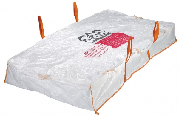 F-FELDTMANN-TECTOR-Bags-Transport-Entsorgung-Container-Säcke, Platten-Bag, 120x70x60cm, beschichtet, Tragkraft: SWL 1200 KG