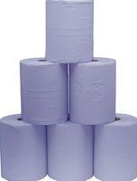F-FELDTMANN-Papier-Putz-Rollen, Putzpapier 2-lagig, blau, Ro.a`500 Blatt