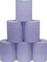 F-FELDTMANN-Papier-Putz-Rollen, Putzpapier 3-lagig, blau, Ro.a`500 Blatt