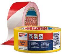 F-FELDTMANN-Warn-Artikel-Produkte, tesa® 60760 Markierungs-Band, rot/weiss