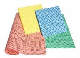 MEIKO-Reinigungs-Putz-Tücher, BESCHICHTETES TUCH, GRIP, Pkg. á 10 Stück, rot