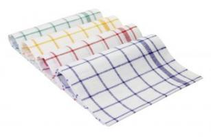 MEIKO-Geschirr-Hand-Tücher, HALBLEINEN-GESCHIRRTUCH, Pkg. á 10 Stück, blau