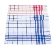 MEIKO-Geschirr-Hand-Tücher, DESSIN 300-GESCHIRRTUCH, Pkg. á 10 Stück, blau/weiss