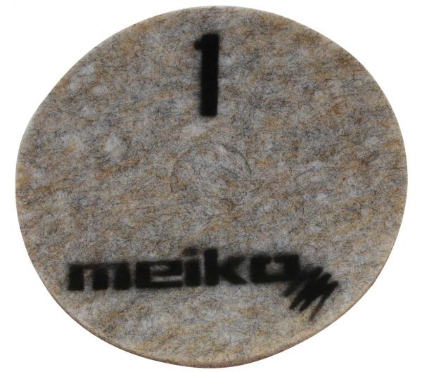 MEIKO-DIAMANT-PAD, grob, S1, 21 - 533 mm, Pkg. á 5 Stück, beige