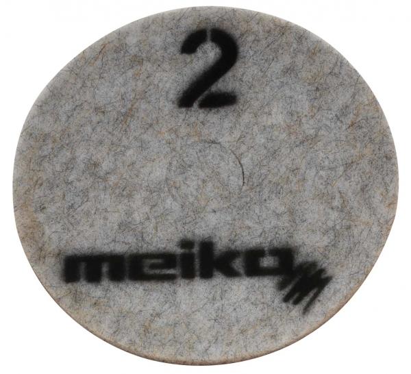 MEIKO-DIAMANT-PAD, medium, S2, 16 - 406 mm, Pkg. á 5 Stück, beige