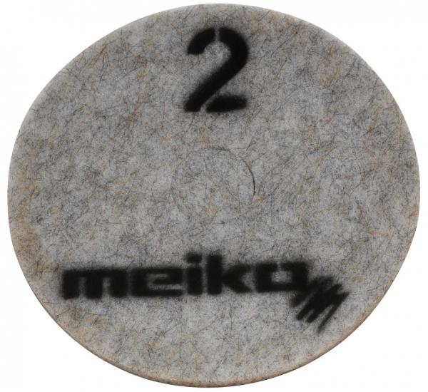 MEIKO-DIAMANT-PAD, medium, S2, 20 - 508 mm, Pkg. á 5 Stück, beige