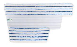 MEIKO-Wisch-Mopps-Pads, TRAPEZ-KLETT-MOPP, MICRO-BORSTE-BEZUG, blau/weiss