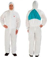 3M-Einweg-Schutz-Anzug, Einmal-Maler-Overall, Komfort, Typ 5/6, weiß/blau