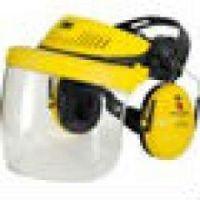 3M-PSA-Schutzhelm-Kombination, Gesichtsschutz, mit G500-GU und Visier 5F-11, gelb
