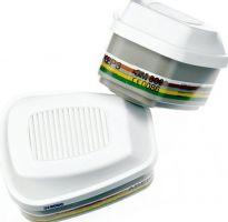 3M-PSA-Atem-Schutz, Filter-Maske, FILTER ABEK2P3R (nur für Vollmasken) gegen organische, anorganische und saure Gase u. Dämpfe, 2 Stk. á Pkg.