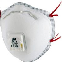 3M-PSA-Atem-Schutz, Filter-Maske, ATEMSCHUTZMASKE, FFP3 R D, mit Cool-Flow, 10 Stk. á Pkg.