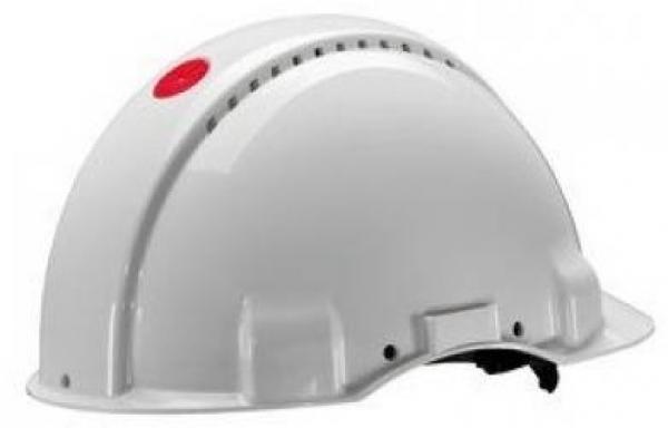 3M-PSA-Schutzhelm G30DUW, ABS, mit Schweißleder belüftet, weiß