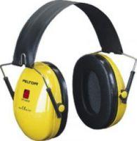 3M-PSA-Gehörschutz, Kapsel-Gehörschützer, Ohr-Stöpsel, Faltbügel Optime I,  gelb
