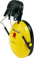 3M-PSA-Gehörschutz, Helmkapsel Optime I P3E, Ohr-Schutz, Steckbefestigung für Helme mit 30 mm Schlitz, gelb
