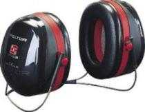 3M-PSA-Gehörschutz, Kapsel-Gehörschützer, Ohr-Schutz, Nackenbügel Optime III, schwarz