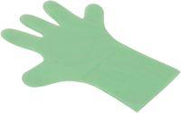 AMPRI-Einweg-PE-Einmal-Handschuhe, MED COMFORT, gehämmert, unsteril, Herrengröße, 37 cm lang, VE = Pkg. á 100 Stück, grün
