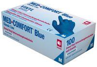 AMPRI-Einweg-Vinyl-Einmal-Untersuchungs-Handschuhe, MED COMFORT BLUE, gepudert, unsteril, blau