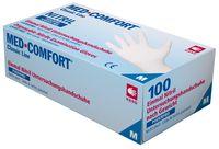 AMPRI-Einweg-Nitril-Einmal-Untersuchungs-Handschuhe, MED COMFORT, puderfrei, unsteril, VE = Pkg. á 100 Stück, weiß
