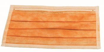 AMPRI-Einweg-Einmal-Mundschutz, MED COMFORT, Typ IIR, 3lagig, zum Binden, orange, VE = Pkg. á 50 Stk.