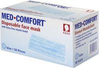 AMPRI-Einweg-Einmal-Mundschutz, MED COMFORT, Typ IIR, 3lagig, runde Elastikbänder, blau, VE = Pkg. á 50 Stk.